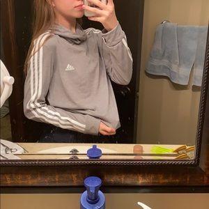 Women's gray adidas sweatshirt